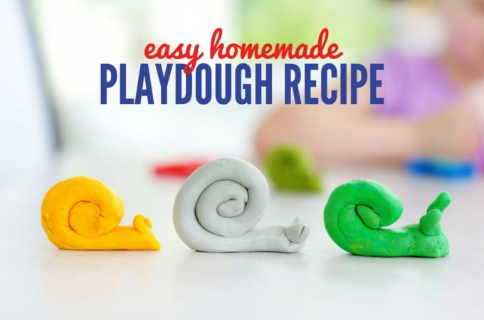 Homemade Playdough Recipe – All Natural Ingredients