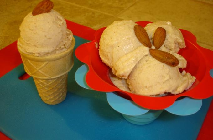 Nutty Peach Raw Ice (non) Cream Recipe