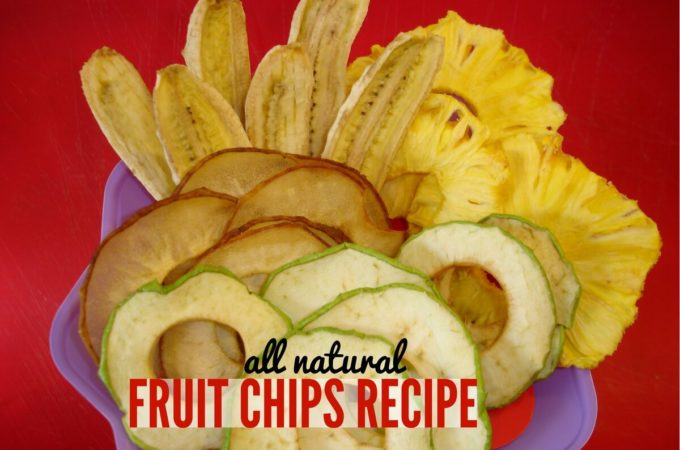 Natural Fruit Chips Recipe in the Dehydrator – Gluten Free & Vegan
