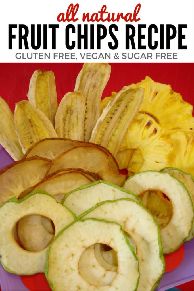 Gluten Free & Vegan Natural Fruit Chips in the Dehydrator - No Sugar