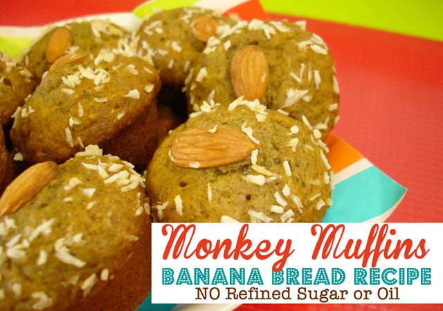Monkey Muffins – Banana Bread with No Sugar or Oil!