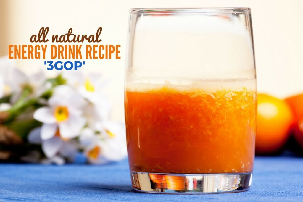 All Natural Energy Drink Recipe 3GOP