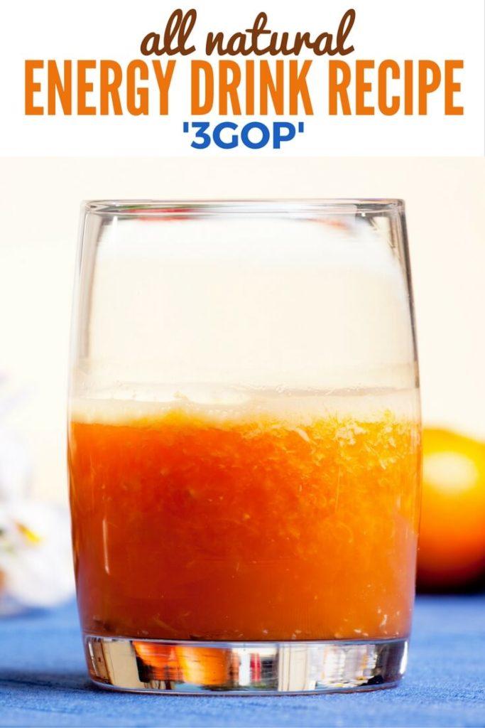 All Natural Energy Drink Recipe 3GOP #glutenfree #vegan #allnatural #energy #recipe