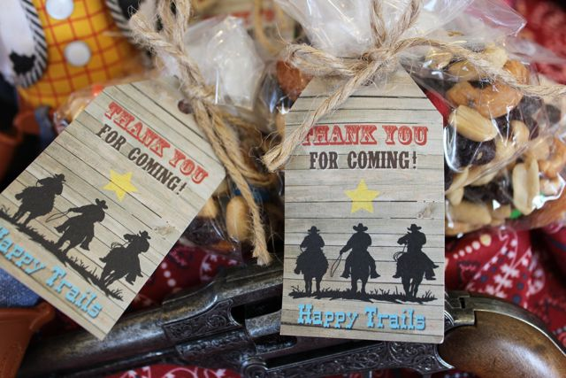Free Cowboy Party Favor Tags Printable - Gluten & Dairy