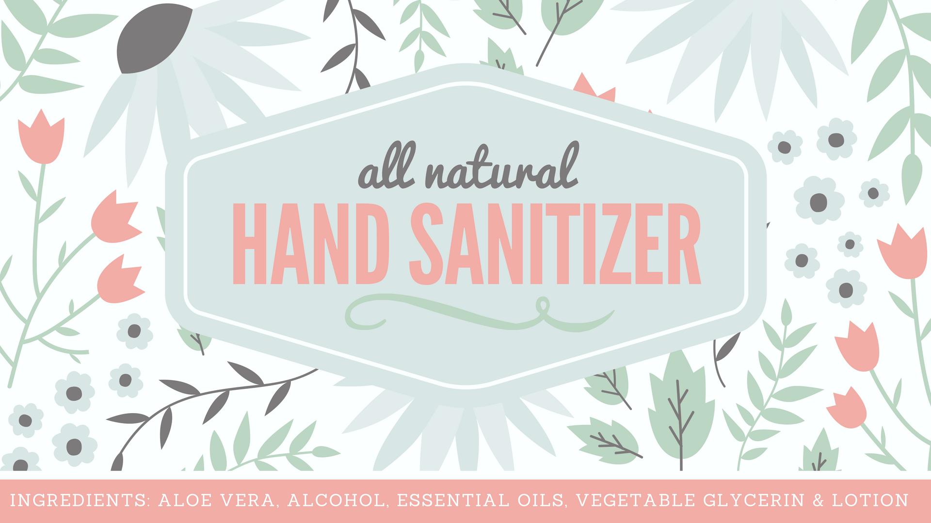 Natural hand sanitizer label free printable with full recipe all natural hand sanitizer recipe with free printable pronofoot35fo Images