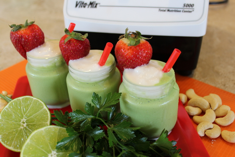 Natural Shamrock Shake Recipe in the VitaMix