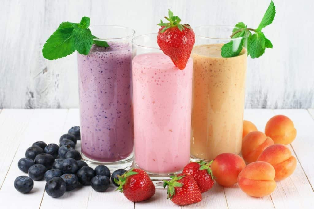 smoothie équilibré au fruits