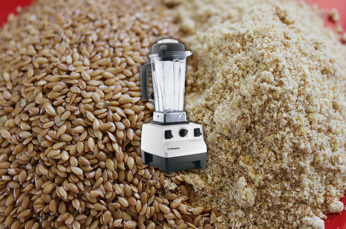 Make your own Flax Meal in the VitaMix!