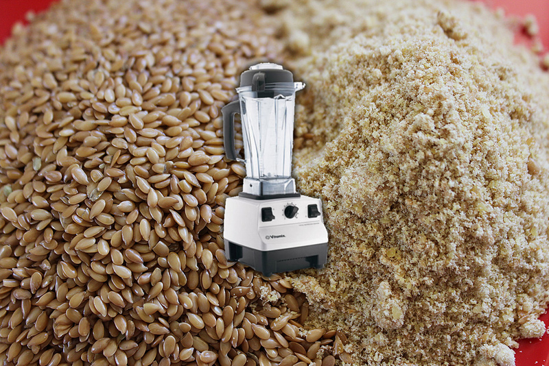 homemade fresh organic flax meal or flour in 30 seconds in the vitamix