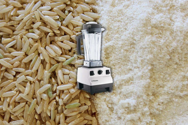 Make Your Own Brown Rice Flour in the VitaMix