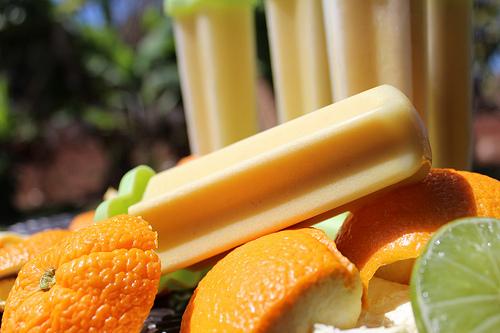 Vitamix Orange Creamsicle Popsicles