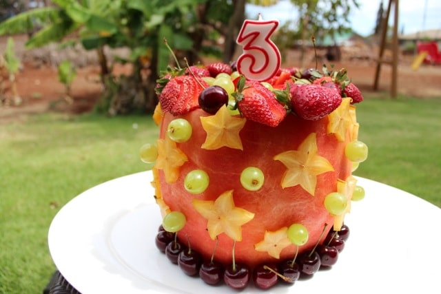 Real Watermelon Cake – 100% Fruit!