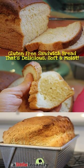 Soft Gluten Free Sandwich Bread Recipe