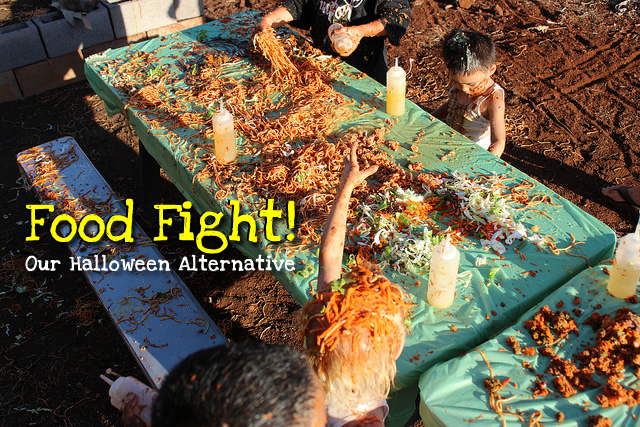 Our Annual Food Fight – A Halloween Alternative