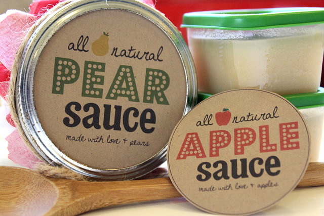 Homemade Pear Sauce Recipe with Free Printable