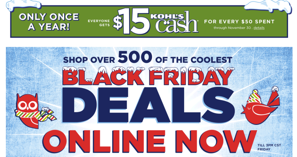 ebates kohls black friday