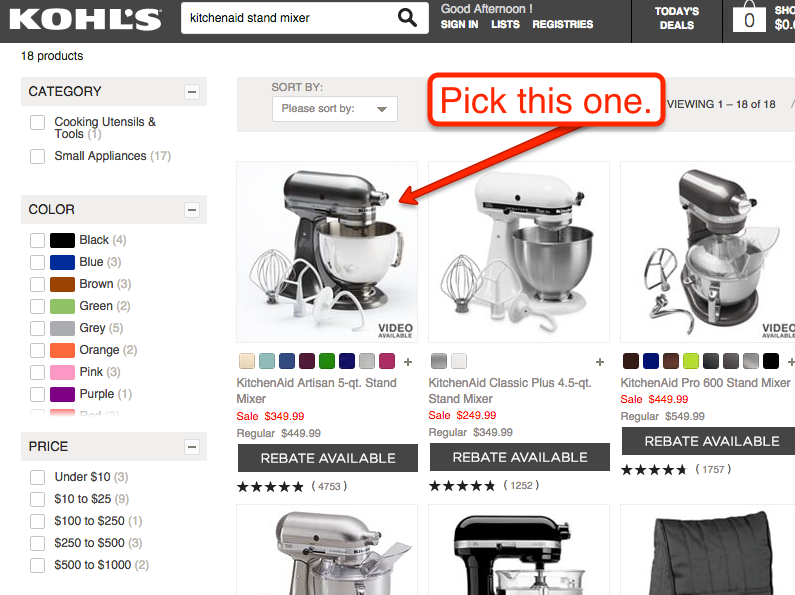 ebates kohls black friday kitchen aid sale