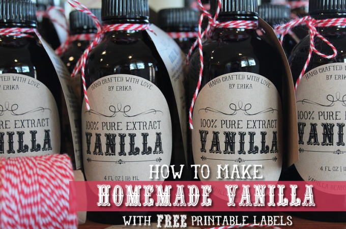 Homemade Vanilla Recipe – Gluten Free with FREE Printable!