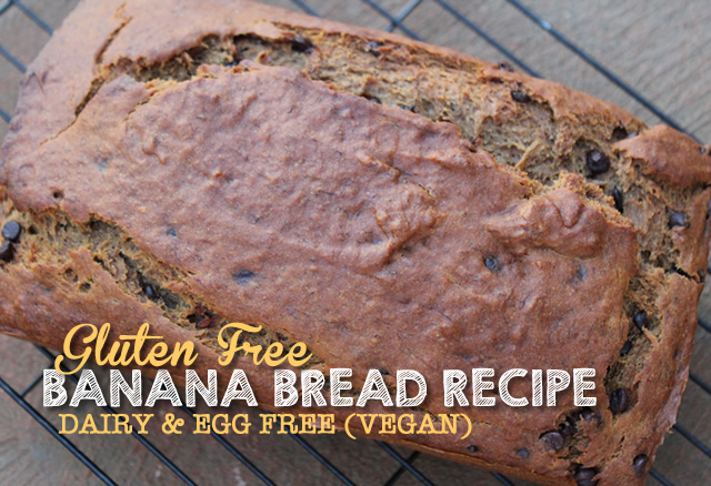 Gluten Free Banana Bread Recipe – No Eggs, Vegan!