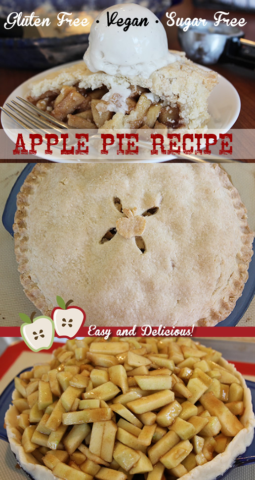 Easy Gluten Free Vegan Sugar Free Apple Pie Recipe - Pinterest