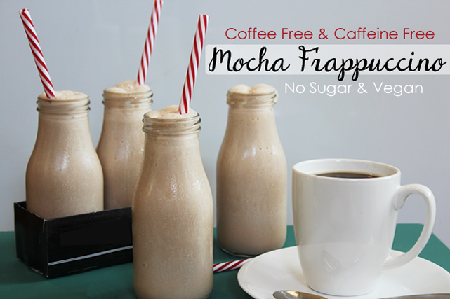 Blended Vegan Mocha Recipe – No Coffee or Sugar!