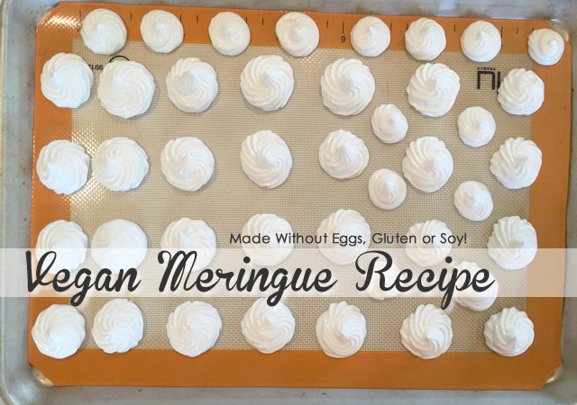 Vegan Meringue Recipe – Made with Chickpea Brine!