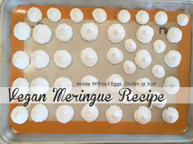 Vegan Meringue Recipe - Egg Free Chickpea Liquid