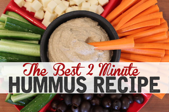Homemade Hummus Recipe in the Vitamix