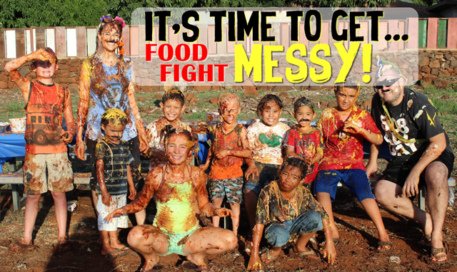 its time to get messy food fight ideas