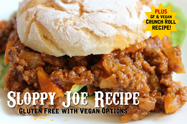 Gluten Free Sloppy Joe Recipe with Vegan Options