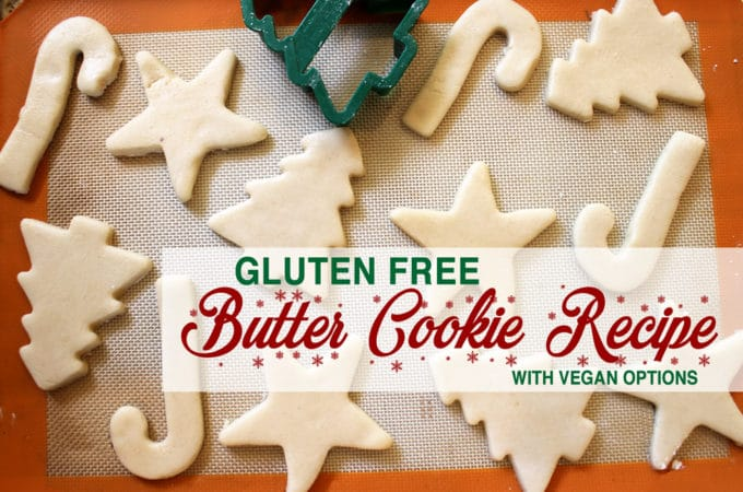 Gluten Free Butter Cookie Recipe with Vegan Options