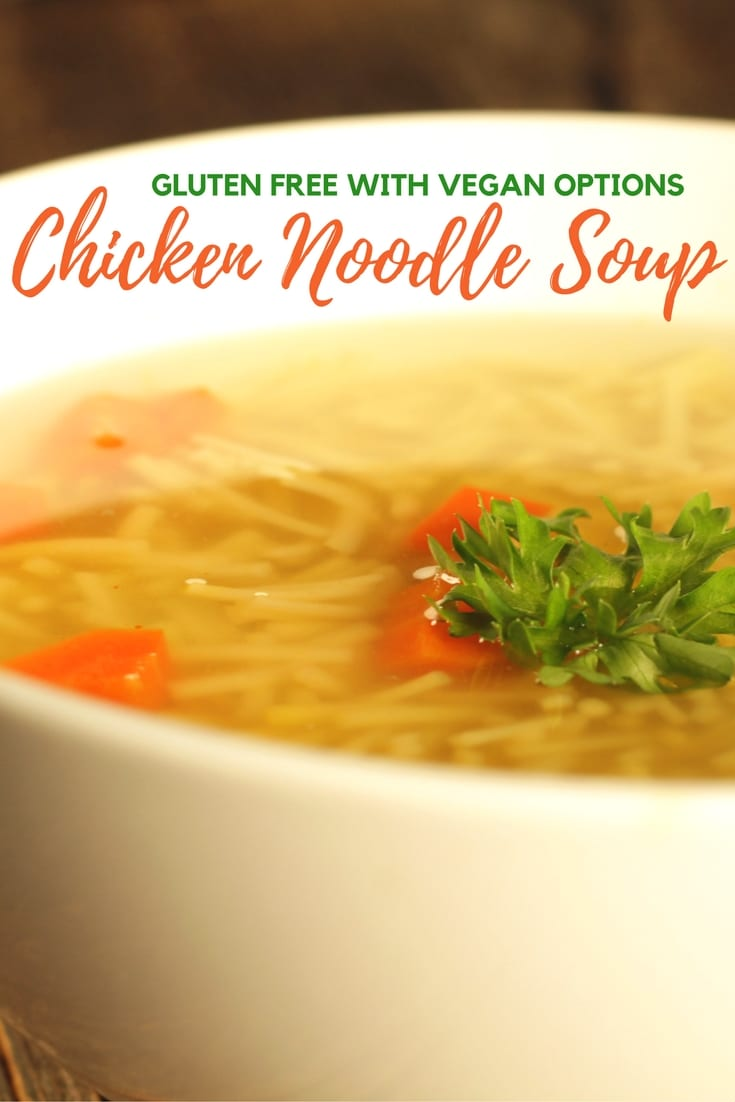 Easy Gluten Free Chicken Noodle Soup Recipe #glutenfree #dairyfree #eggfree #nutfree #vegan #vegetarian #recipe #soup #chicken #instapot