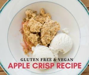 Gluten Free Vegan Apple Crisp Recipe - Oat Free