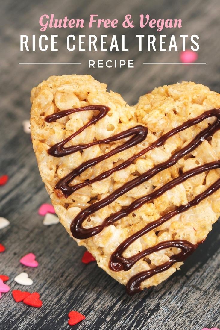 Gluten Free Vegan Rice Cereal Treat Recipe - Pinterest #glutenfree #vegan #treats #dessert #ricecrispy #marshmallows #recipe
