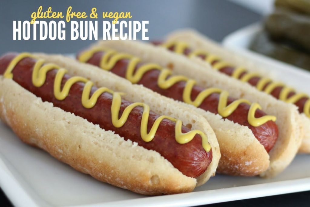 Gluten Free Vegan Hotdog Bun Recipe - Easy to Make