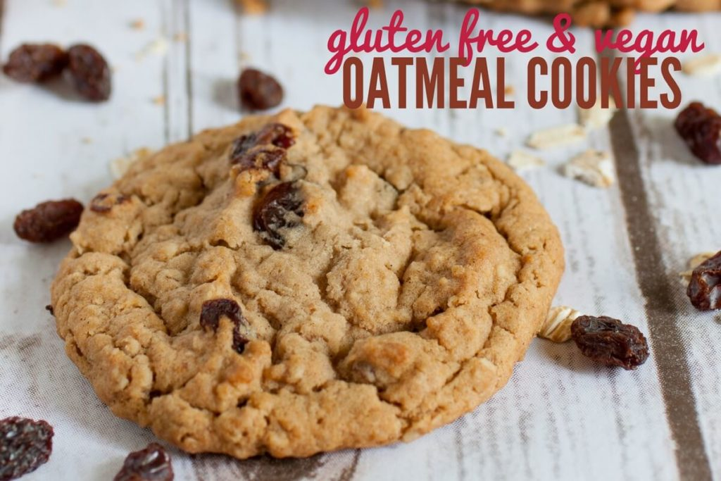 Gluten Free & Vegan Oatmeal Cookie Recipe
