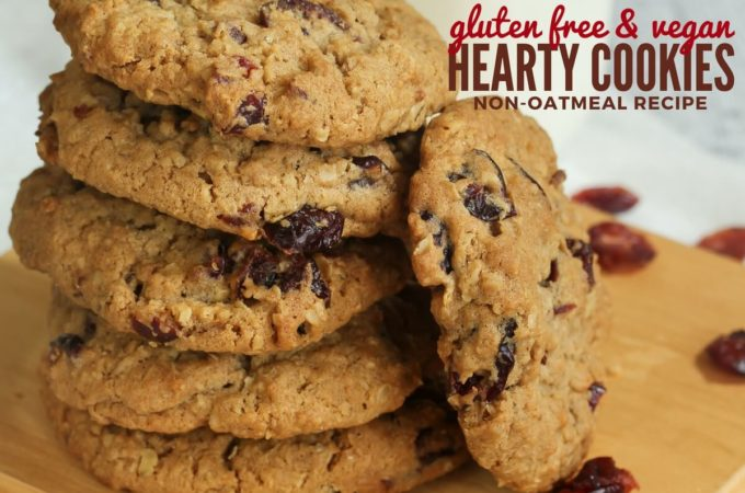 Gluten Free & Vegan Hearty Cookie Recipe – NO Oats!