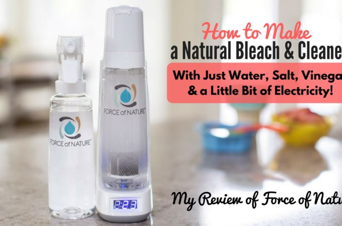 Safe Bleach Alternative that REALLY Kills Germs! Force of Nature Cleaner Review